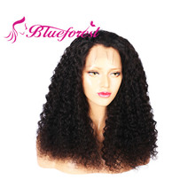 Hot selling afro kinky human hair silk base full lace wig , hot quality hair for wig making