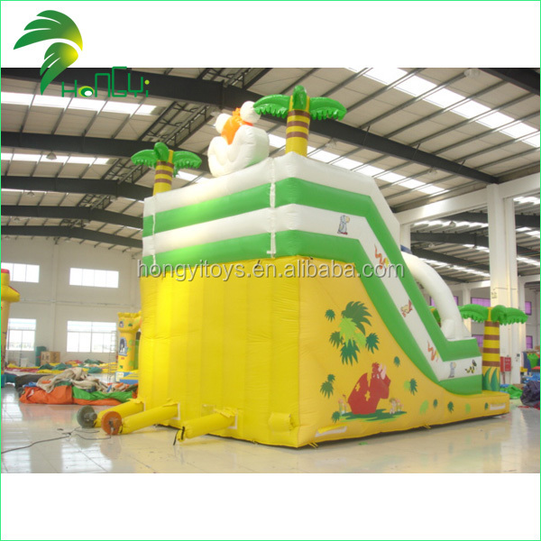 Attractive Custom Coconut Decorative Shape Big Inflatable Toys Slide