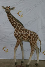 High quality life size tall animatronic giraffe statues garden statues