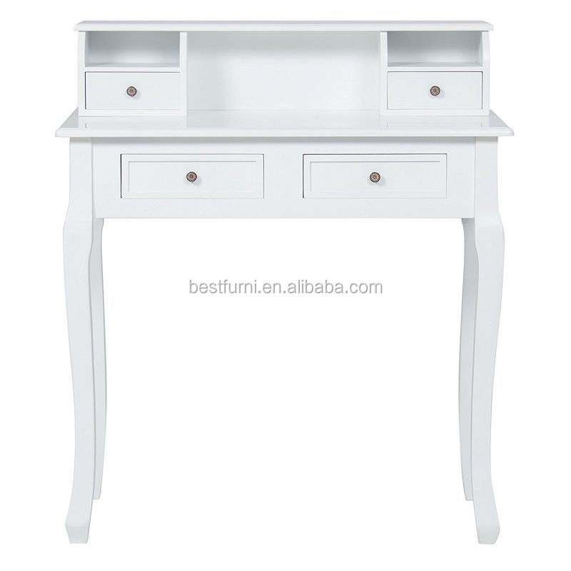 2017 Hottest Model White 4 Drawers Wood Home Office Furniture Computer Laptop Table