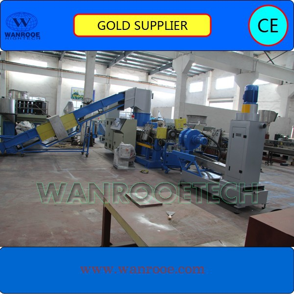 Plastic granule raw material machine / Plastic recycling pelletizing machine / rigid PVC granulating line
