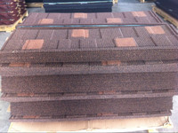 Colorful Stone Chips Coated Metal Roofing Tiles (Double Shingle)