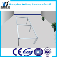 Good quality Aluminum meeting table leg / office furniture frame / modern office table leg