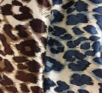 100% Polyester charmeuse leopard printed Spandex satin fabric for dress and shirt