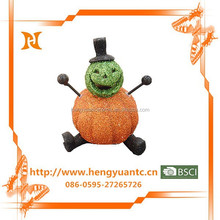 Happy pumpkin ghost crafts ceramic halloween decor