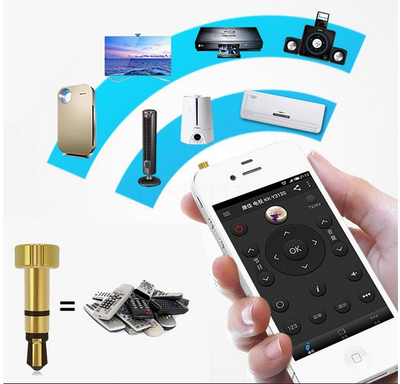 Intelligent remote control infrared universal phone controller for households appliances
