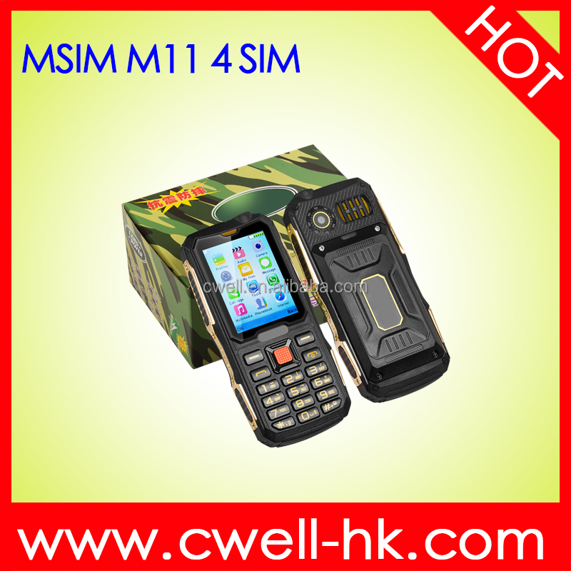 Newest 4 SIM Mobile Phone 4 SIM Card Mobile Phone 2.4 Inch 2000mAh Big Battery