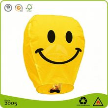 100 Biodegradable Chinese Fireproof Custom Logo Printed Sky Lanterns