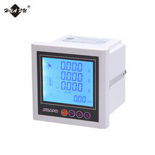 72*72mm LCD display multifunction digital panel <strong>meter</strong> 3-phase RS485 electrical <strong>meter</strong>