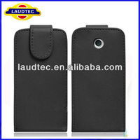 Leather Flip Case for Nokia Asha 501,Asha 501 Flip Leather Case Cover,2013 New 100% perfect fit----Laudtec