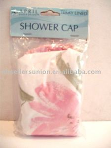 pink fashionable solid PVC shower cap