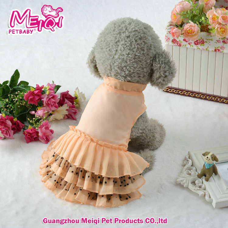 High Quality pet wedding dress pet dog dress plain design dog dress