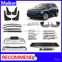 For jeep cherokee off Road parts auto parts running board ,Bumper,Mud guard , Door sill for jeep cherokee accessories 2014-On