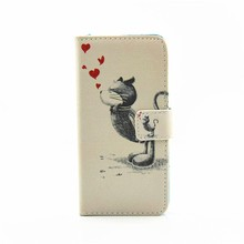 HOT Selling Personalized Painting Leather Cell Phone Case for iPhone 6 Plus