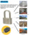 Customized universal padlock and cam lock cylinder lock body