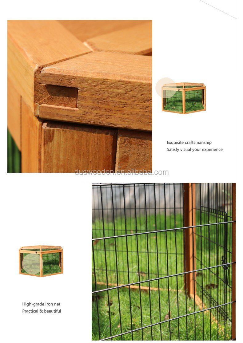 Pets hexagonal cage Wooden rabbit cage Cheap wooden pets cage