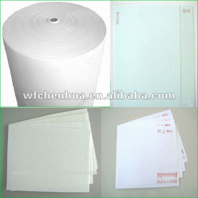 Polyester mat reinforcement for sbs/app waterproof membrane