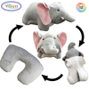 G466 Stuffed Plush Toy Animal Elephant Convertible Neck Pillow U Shaped Travel Pillow