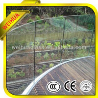 laminated glass balcony glass decorate glass manufacture with CE/CCC/ISO