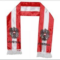 OEM Promotional Custom printed sports scarf football team scarf polyester fan scarf
