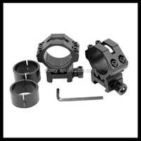 "30mm to 1"" Scope Ring with Reducers Low Profile Rail Laser Flashlight Mount Picatinny M4020 from POERY"