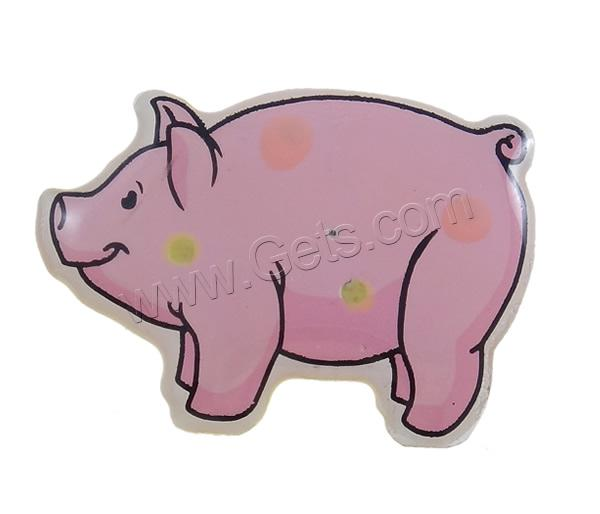 Resin Pig Pig Brooch 822057