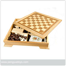 7 in 1 wooden combination game box