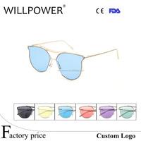 China wholesale OEM unisex new style beauty copper frames sunglasses eyewears 2017