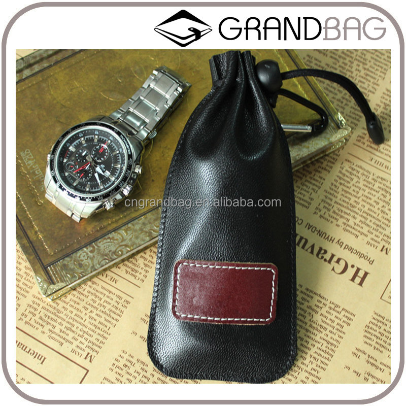 Wholesale High Quality Genuine Sheep Leather Gift Storage Bag Purse Travel Watch Bag