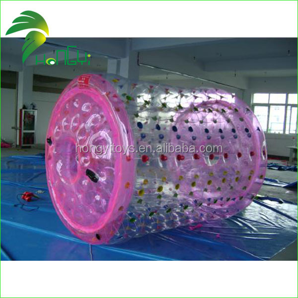 Professional Inflatable Aqua Roller Ball , Inflatable Water Rolling zorbing pool For Water Play