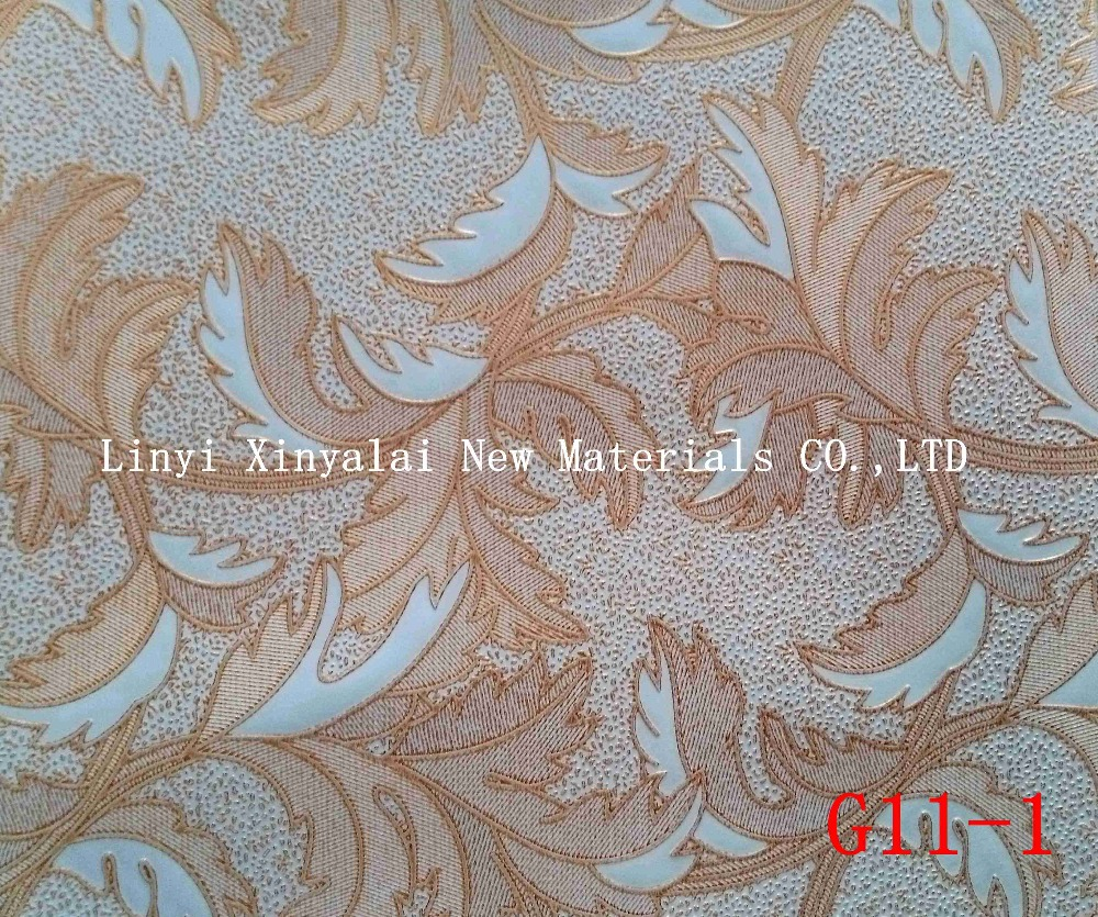 Linyi Xinyalai factory supply embossed pvc film PVC decorative sheet for gypsum ceiling tile