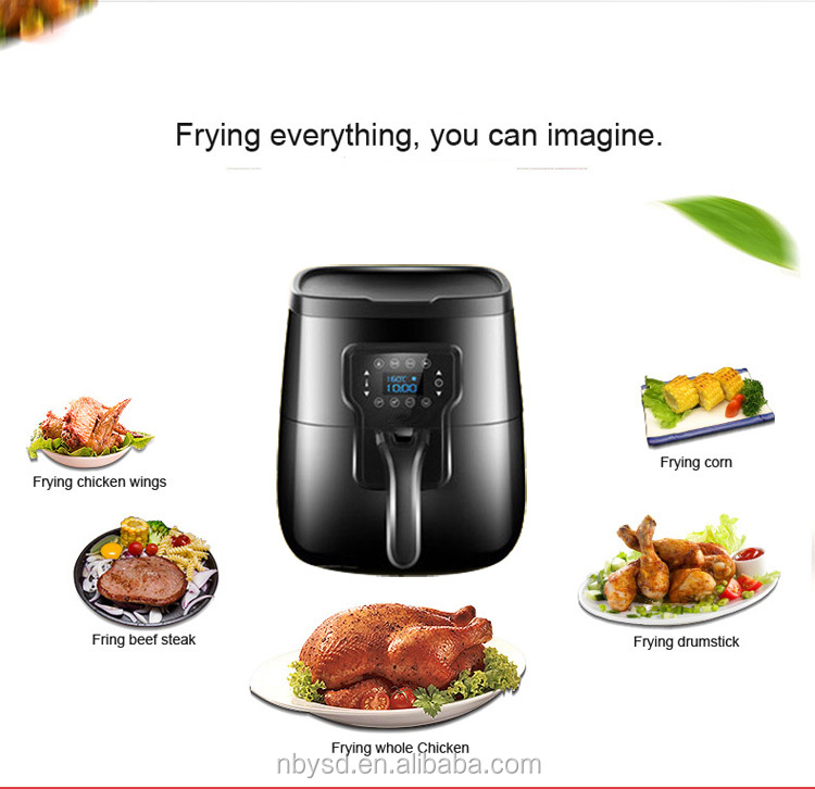 2016 New Arrival with GS CE CB certificates oil free cooking machine digital air circulation fryer