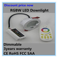 Discount price RGBW 3*4W ceiling 12v caravan led down lights
