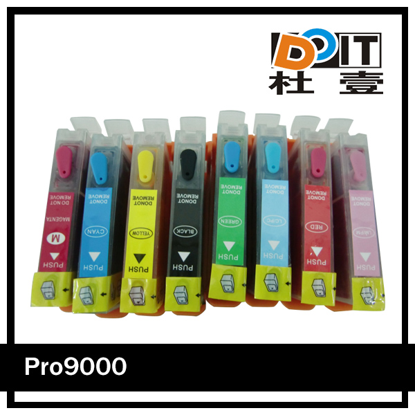 Dye ink refilled cartridge for canon CLI-8 BK/ C/ M/ Y/ PC/ PM/ R/ G refill kit