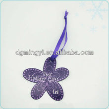 flower-shape gift hang tag