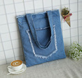 Wholesale new design Promotional denim tote bag