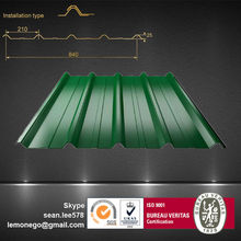 China building materials colored iron roof sheet for sale