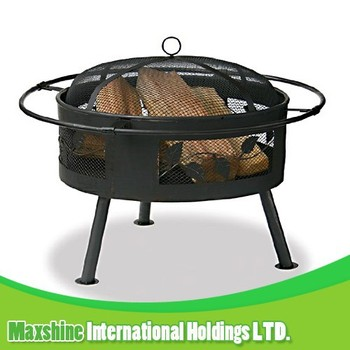 garden deco outdoor warming fire pit, wood burning fire pit, metal fire pit