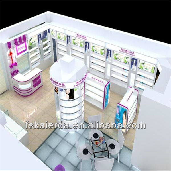 cosmetic shop decoration design for cosmetic display