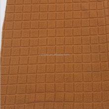 Jacquard square knitted antipilling polar fleece