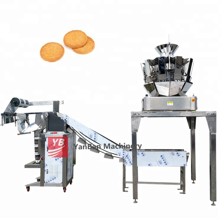 Vertical chips Packing machine YB-300LD 500g Multihead Weigher automatic granule packing machine
