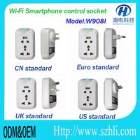 App Wireless control Wifi home socket adapter with timer Smart US UK AU EU wifi smart socket