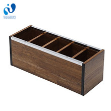 WanuoCraft Wooden Desk Pen Container Holder With Multiple Compartments