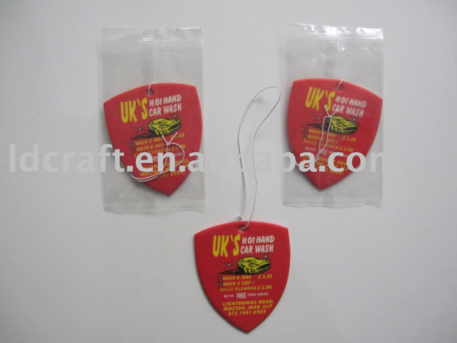 football club souvenir name brand custom air freshener for cars
