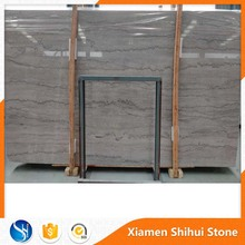 Polished Home Marble Floor Design Sunny Grey Marble tile and slab with black wave