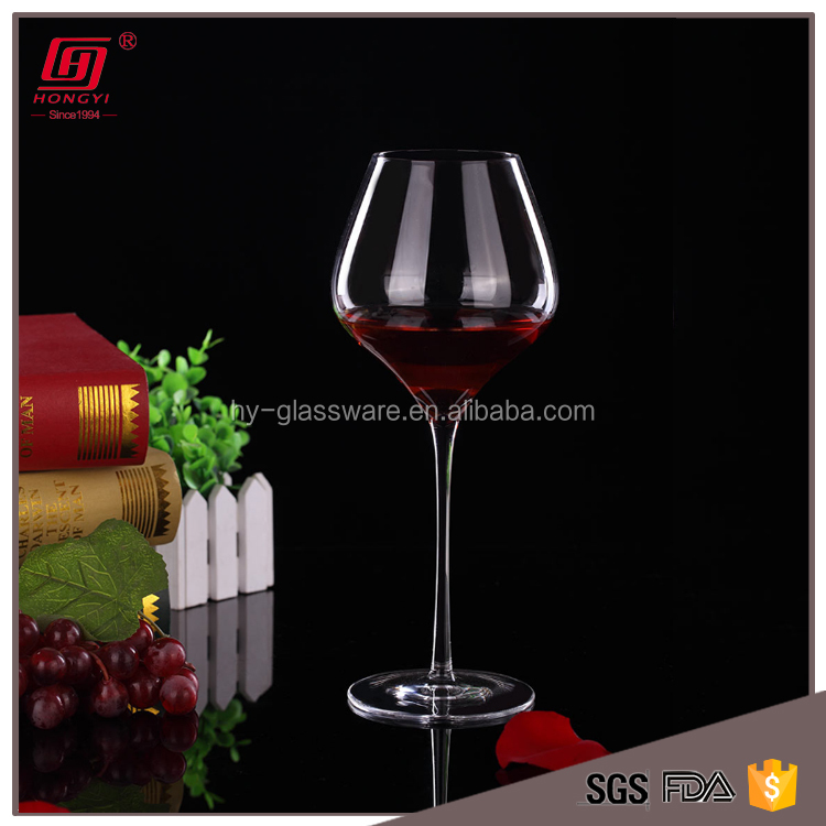 Hongyi Custom handmade blown crystal glassware sets red wine glass