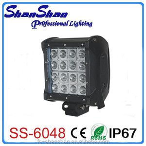 quad row 48watt 5.7 inch led work light,led head light for trucks SS-6048