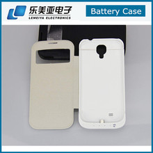 3200mah Smart View Flip Leather External Backup Battery Power Case Cover For Samsung Galaxy S4 i9500