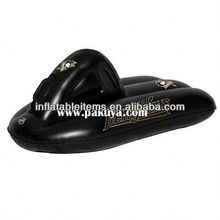 hot sale pvc inflatable snow motorcycle in black for sale