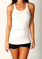 ladies plain white gym singlet/custom blank women's tank top